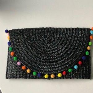Black Pom Pom clutch